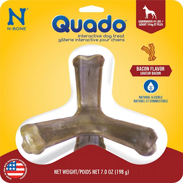 N-Bone Quado Bacon Flavor Interactive Large Dog Treats, 7 oz. - Carousel image #1
