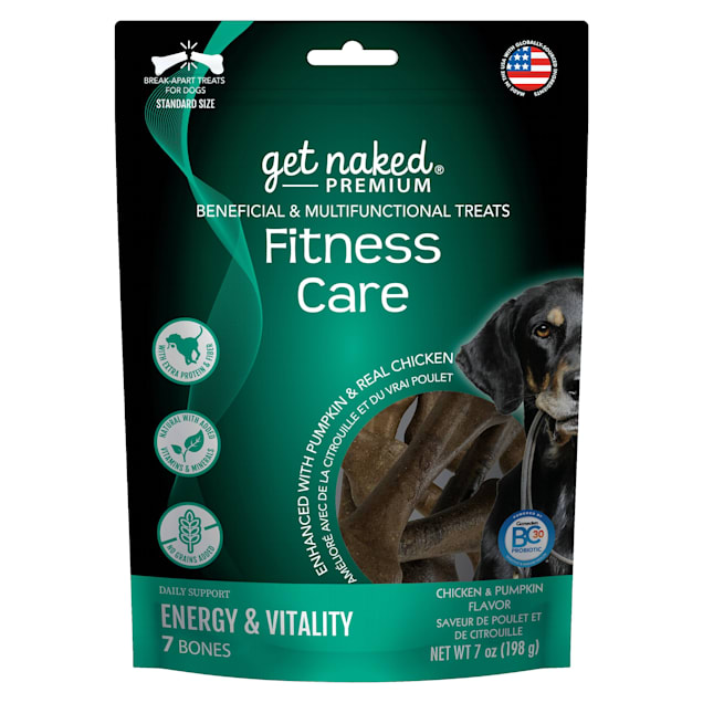 Get Naked Premium Fitness Care Beneficial & Multifunctional Chicken & Pumpkin Flavor Dog Treats, 7 oz. - Carousel image #1