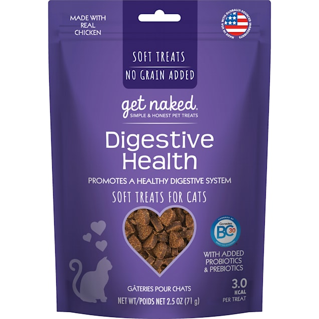 Get Naked Digestive Health Chicken Flavor Soft Cat Treats, 2.5 oz. - Carousel image #1