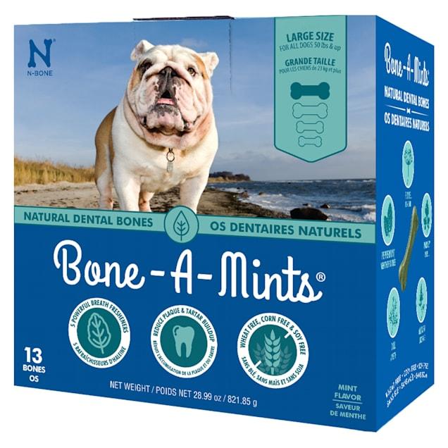 N-Bone Bone-A-Mints Mint Flavor Daily Dental Large Bone for Dogs, 28.99 oz. - Carousel image #1