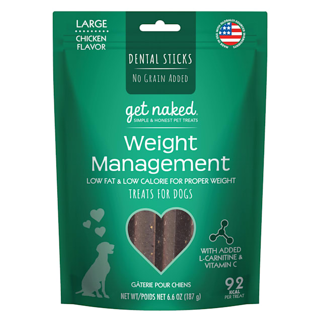 Get Naked Weight Management Chicken Flavor Large Dog Treats, 6.6 oz. - Carousel image #1