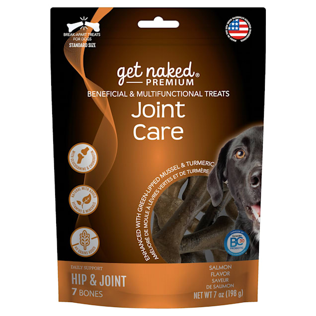 Get Naked Premium Joint Care Beneficial & Multifunctional Salmon Flavor Dog Treats, 7 oz. - Carousel image #1