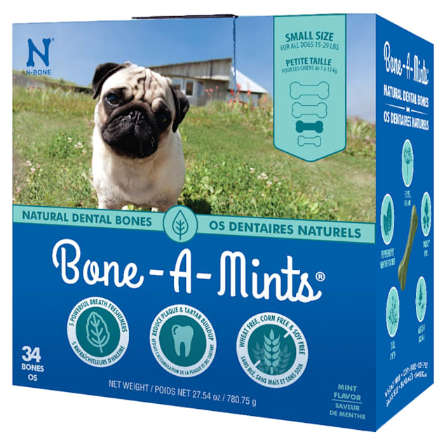 N-Bone Bone-A-Mints Mint Flavor Daily Dental Small Bone for Dogs, 27.54 oz. - Carousel image #1