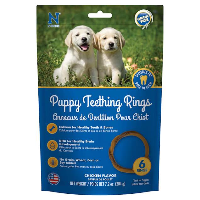 N-Bone Puppy Teething Rings Grain Free Chicken Flavor Chew Treats, 7.2 oz. - Carousel image #1