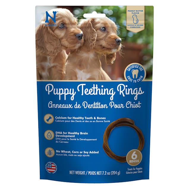 N-Bone Puppy Teething Rings Peanut Butter Flavor Chew Treats, 7.2 oz. - Carousel image #1