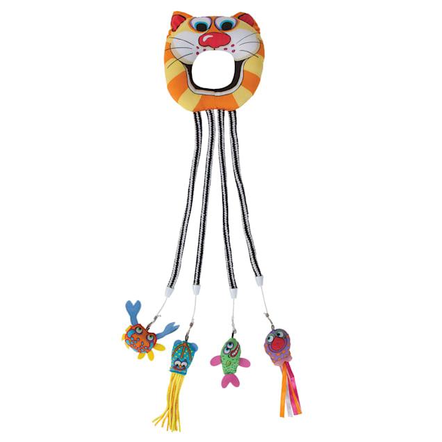 FAT CAT Catfisher Doorknob Hanger Toy, Medium - Carousel image #1