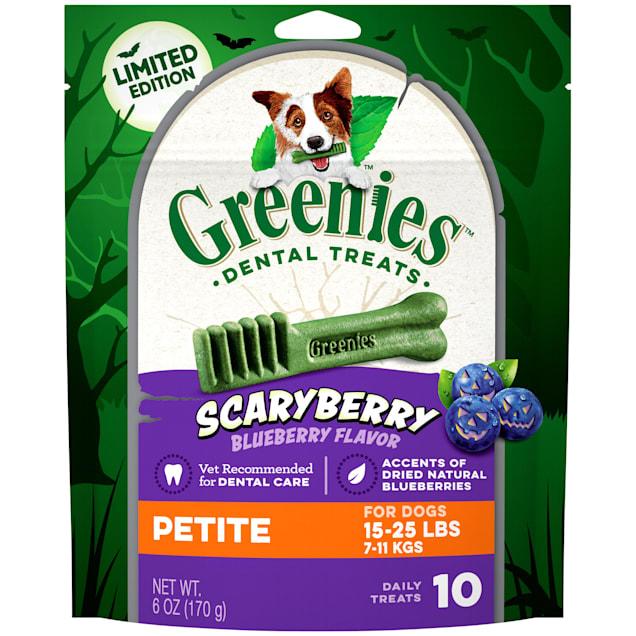 Greenies ScaryBerry Blueberry Flavor Petite Halloween Natural Dental Dog Chew Treats, 6 oz. - Carousel image #1