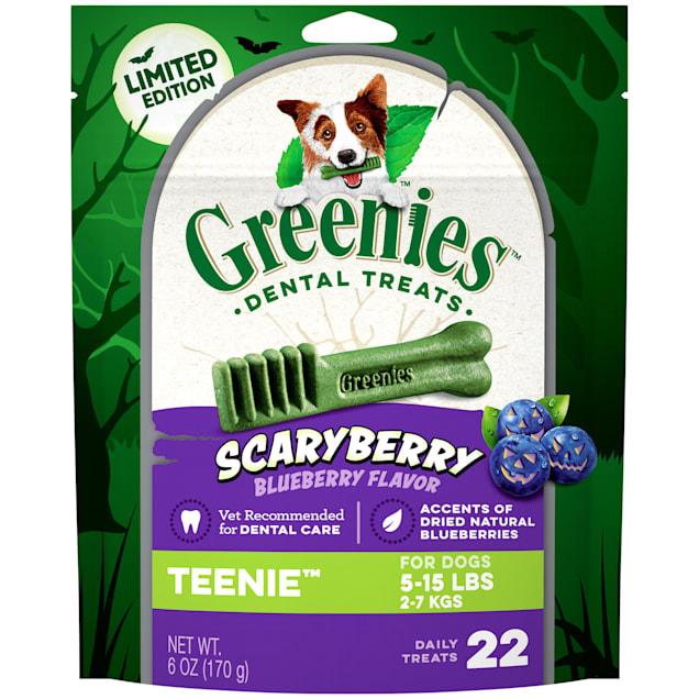 Greenies ScaryBerry Blueberry Flavor Teenie Halloween Natural Dental Dog Chew Treats, 6 oz. - Carousel image #1