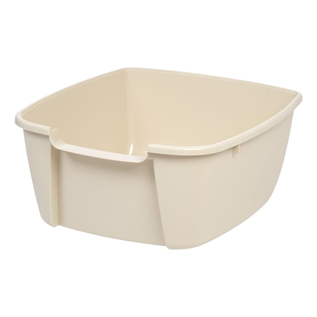 Iris Off-White Corner Large Cat Litter Box with Scoop - Carousel image #1