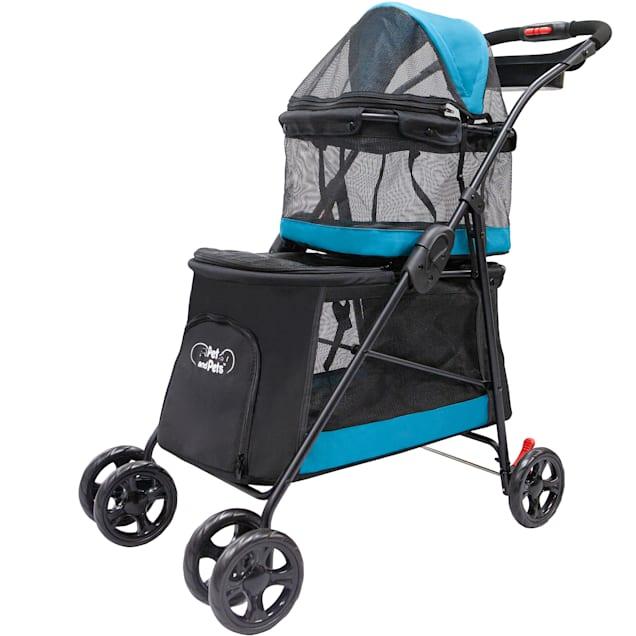 Petique Turquoise Double Decker Pet Stroller - Carousel image #1