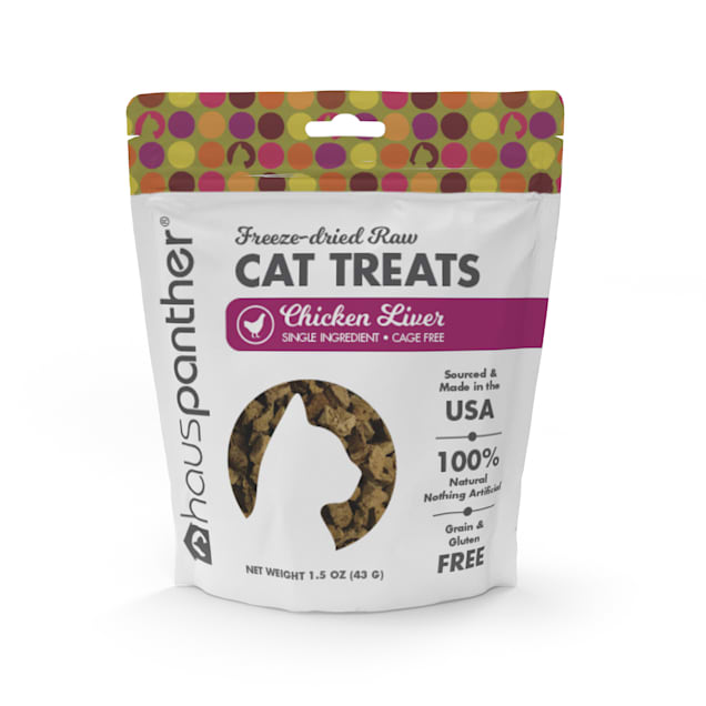 Hauspanther Collection by Primetime Chicken Liver Freeze-dried Raw Cat Treats, 1.5 oz. - Carousel image #1