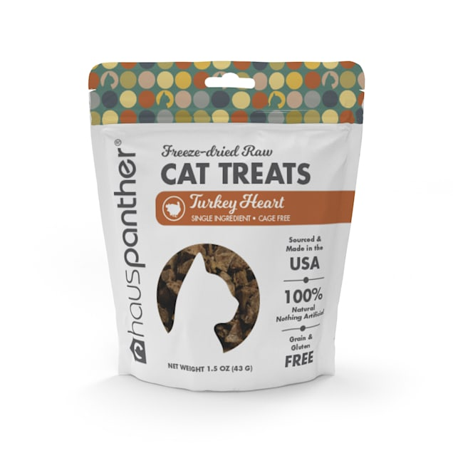Hauspanther Collection by Primetime Turkey Heart Freeze-dried Raw Cat Treats, 1.5 oz. - Carousel image #1
