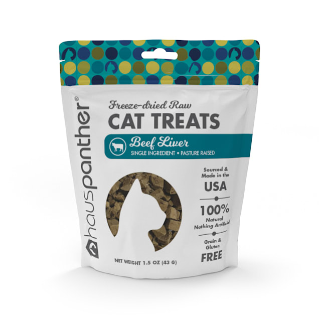 Hauspanther Collection by Primetime Beef Liver Freeze-dried Raw Cat Treats, 1.5 oz. - Carousel image #1
