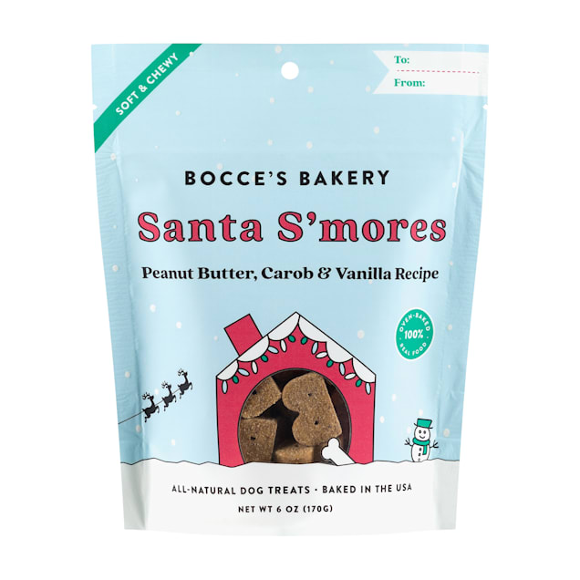 Bocce's Bakery All-Natural Santa S'mores Soft & Chewy Dog Treats, 6 oz. - Carousel image #1