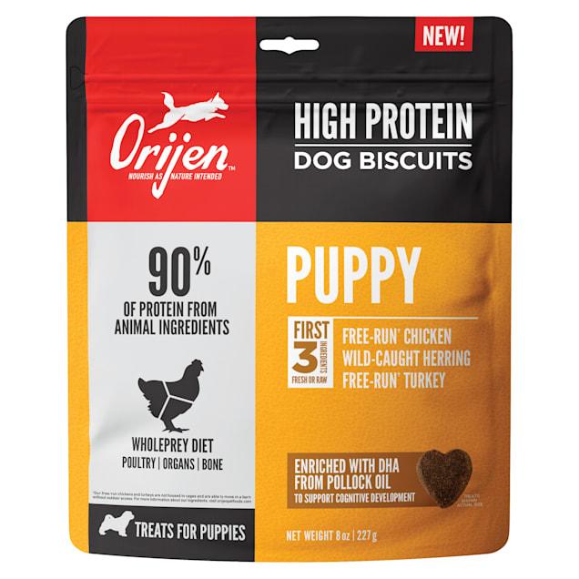 ORIJEN High Protein Puppy Crunchy Biscuit Treats, 8 oz. - Carousel image #1
