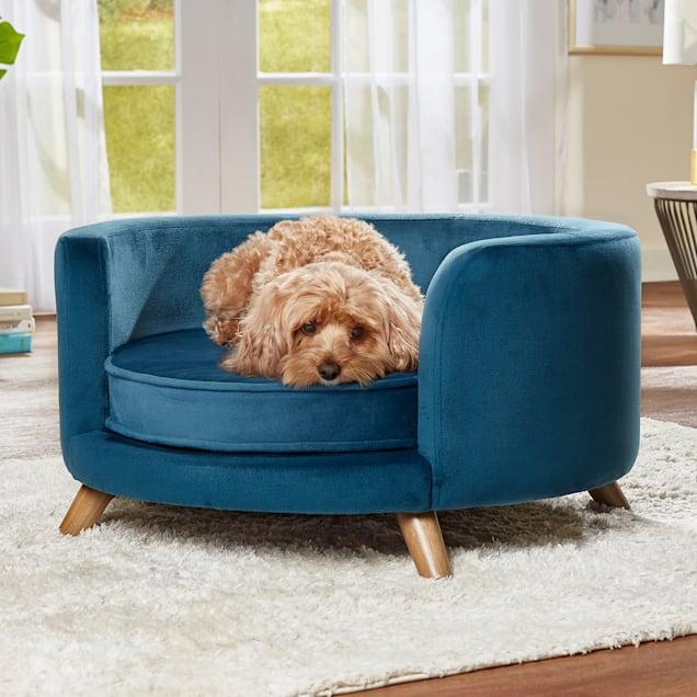 "Enchanted Home Pet Blue Rosie Pet Sofa, 27.17"" L X 27.17"" W - Carousel image #1"