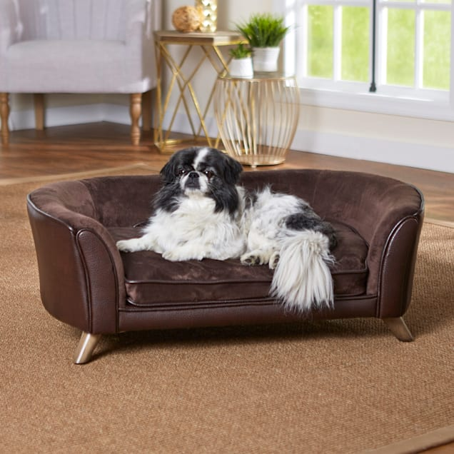 "Enchanted Home Pet Brown Paloma Pet Sofa, 37.5"" L X 22.5"" W - Carousel image #1"