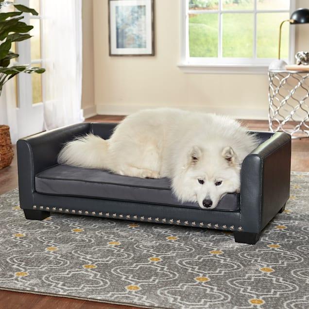 "Enchanted Home Pet Gray Chaz Pet Sofa, 40.55"" L X 24.02"" W - Carousel image #1"