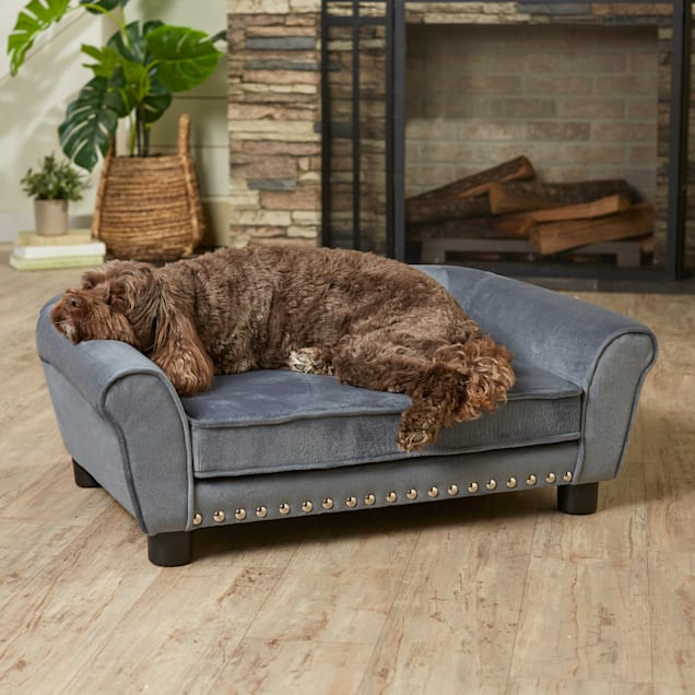 "Enchanted Home Pet Gray Charley Pet Sofa, 31.73"" L X 20"" W - Carousel image #1"