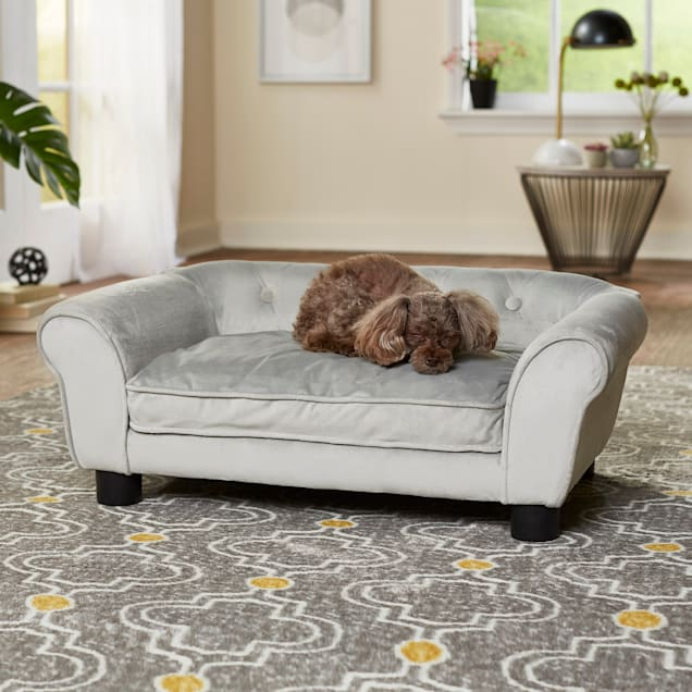 "Enchanted Home Pet gray Charlotte Pet Sofa, 28"" L X 17"" W - Carousel image #1"