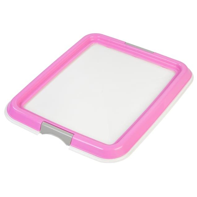 Iris White Potty Pad Holder for Dog Training Pee Pads, Small - Carousel image #1