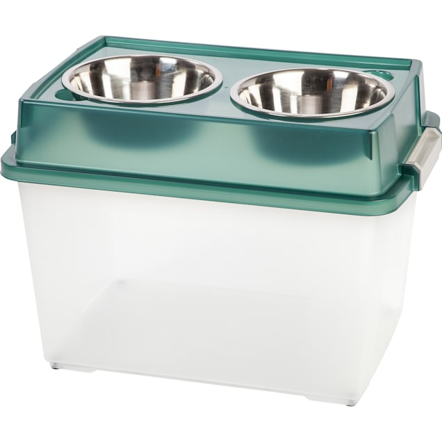 Iris Green Feeder Storage Container for Dogs, 8 Cup - Carousel image #1