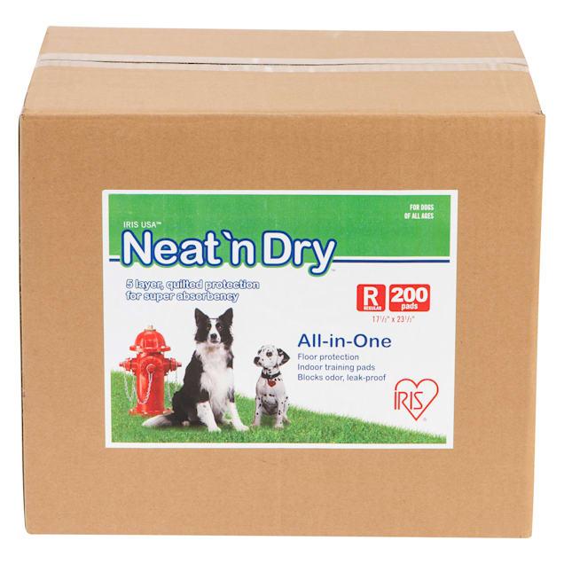 Iris Neat 'n Dry Potty Training Dog Pads, Count of 200 - Carousel image #1