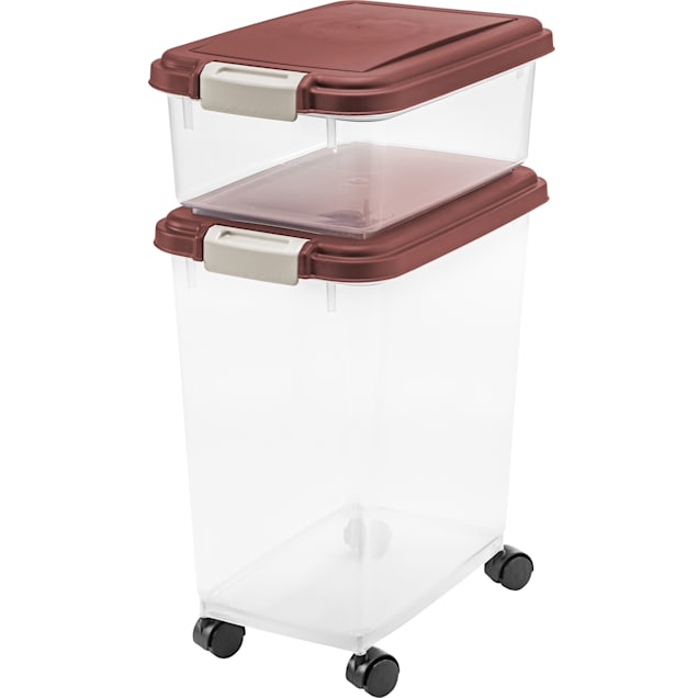 Iris Brown Airtight Pet Food Storage Container Combo, Pack of 3 - Carousel image #1