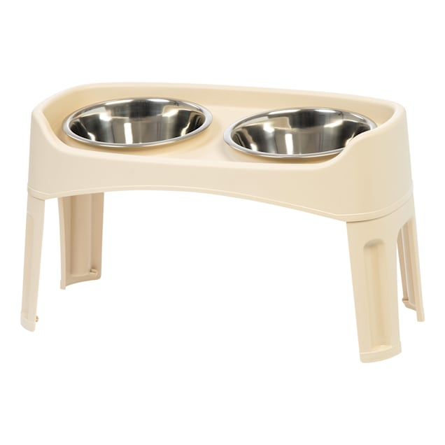 Iris Almond Elevated Double Diner Dog Feeder, 8 Cup - Carousel image #1