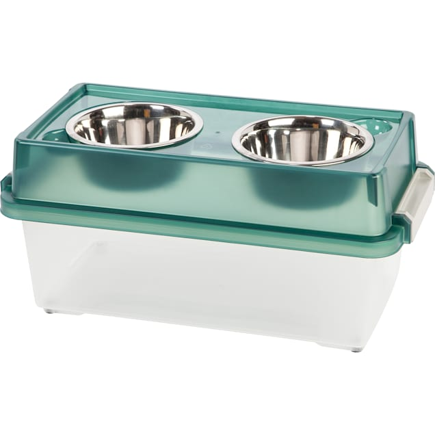 Iris Green Elevated Food Storage Container for Dogs, 4 Cup - Carousel image #1