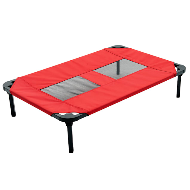 """Lucky Dog Red Elevated Pet Bed Comfort Cot, 28.9"""" L X 19.7"""" W - Carousel image #1"""