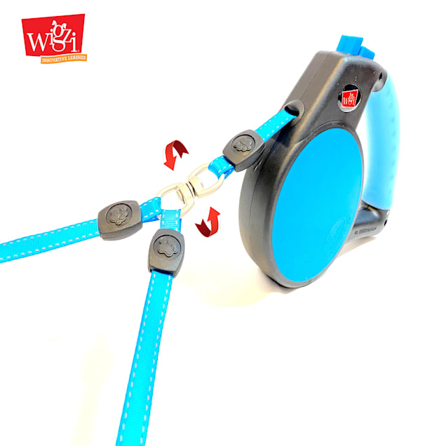 Wigzi Double Dog Retractable Leash with Coupler, Large - Carousel image #1