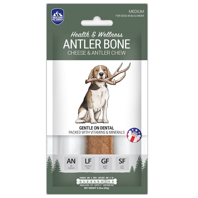 Himalayan Dog Chew Antler Bone for Dogs, 3.25 oz., Count of 1 - Carousel image #1