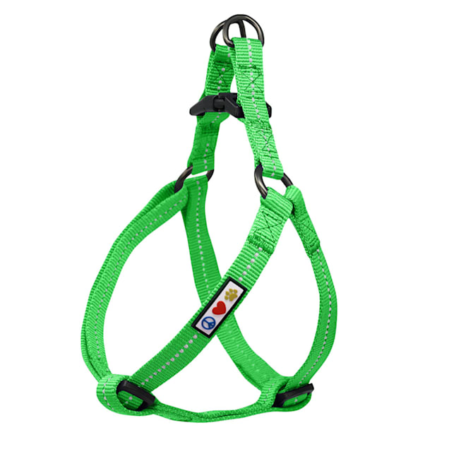 Pawtitas Recycled Green Reflective Step In Dog Harness, X-Small - Carousel image #1