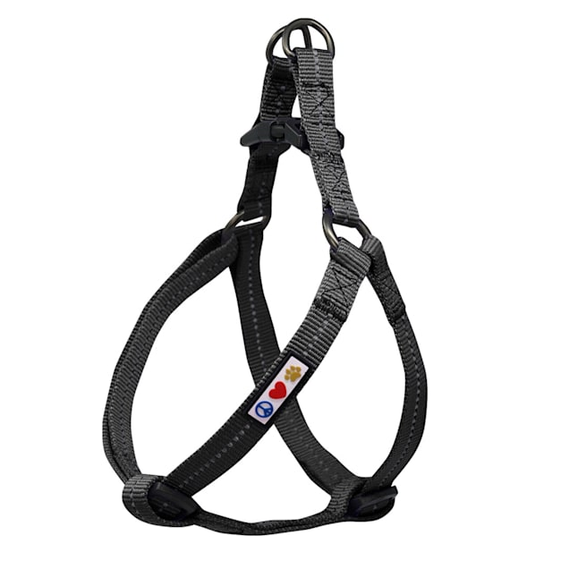 Pawtitas Recycled Black Reflective Step In Dog Harness, X-Small - Carousel image #1