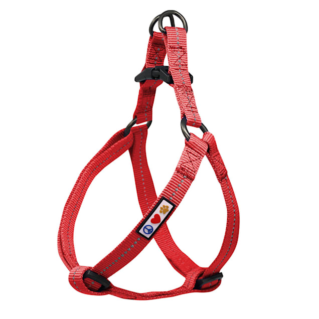 Pawtitas Recycled Red Reflective Step In Dog Harness, X-Small - Carousel image #1