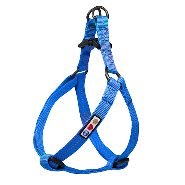Pawtitas Recycled Blue Reflective Step In Dog Harness, X-Small - Carousel image #1