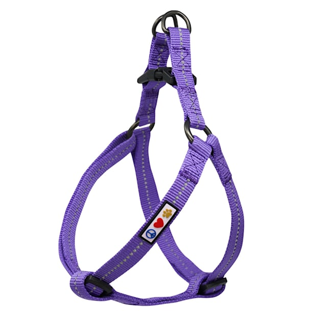 Pawtitas Recycled Purple Reflective Step In Dog Harness, X-Small - Carousel image #1
