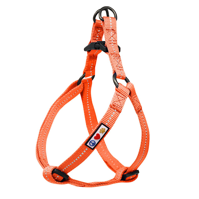 Pawtitas Recycled Orange Reflective Step In Dog Harness, X-Small - Carousel image #1