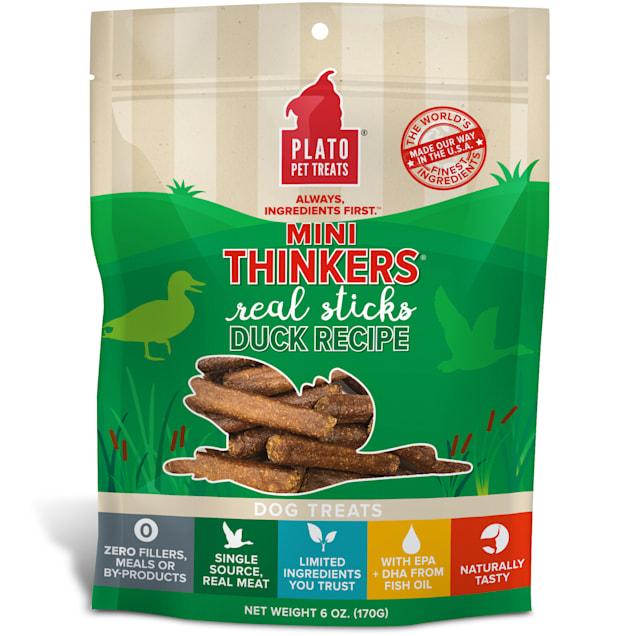 Plato Pet Mini Thinkers Duck Recipe Dog Treats, 6 oz. - Carousel image #1