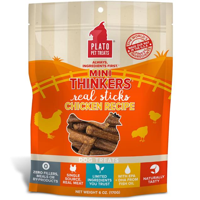Plato Pet Mini Thinkers Chicken Recipe Dog Treats, 6 oz. - Carousel image #1