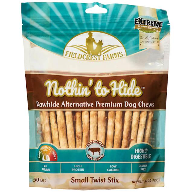 Fieldcrest Farms Nothin' to Hide Sticks Beef Flavor Premium Dog Chews, 11.4 oz., Pack of 50 - Carousel image #1