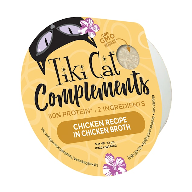 Tiki Cat Complements High-Protein Meal Topper Chicken Recipe in Chicken Broth Wet Cat Food, 2.1 oz., Case of 8 - Carousel image #1