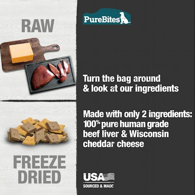 PureBites Beef & Cheese Freeze Dried Dog Treats, 8.8 oz. - Carousel image #1