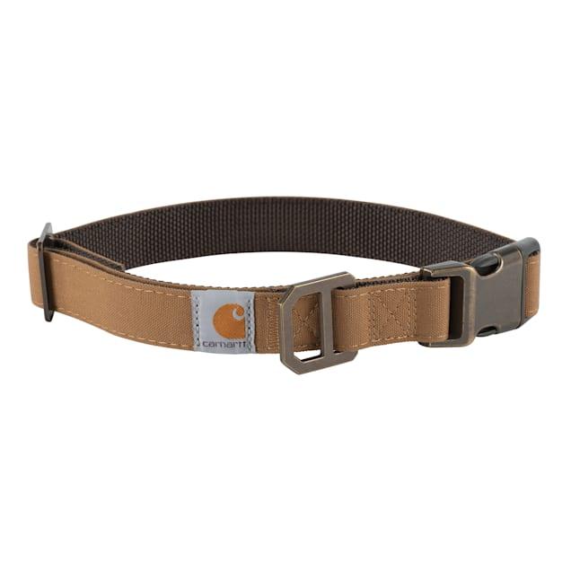 Carhartt Brown/Dark Brown Nylon Duck Dog Collar, Large - Carousel image #1