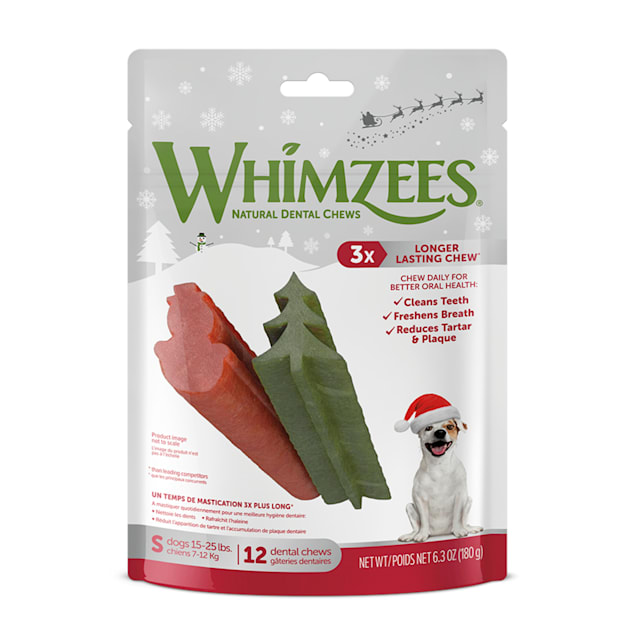 Whimzees Small Holiday Dental Chews, 6.3 oz., Pack of 12 - Carousel image #1
