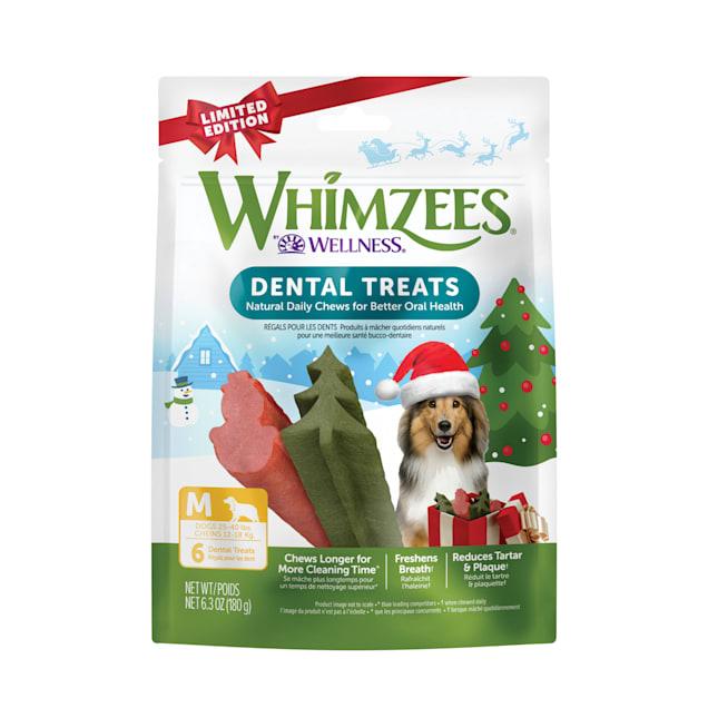 Whimzees Medium Holiday Dental Chews, 6.3 oz., Pack of 6 - Carousel image #1