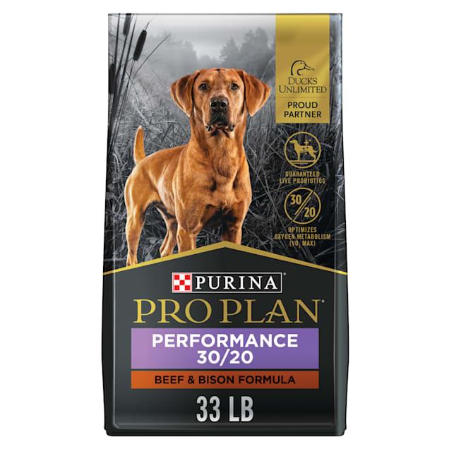 Purina Pro Plan Sport Performance 30/20 Beef & Bison Formula Dry Dog Food, 33 lbs. - Carousel image #1