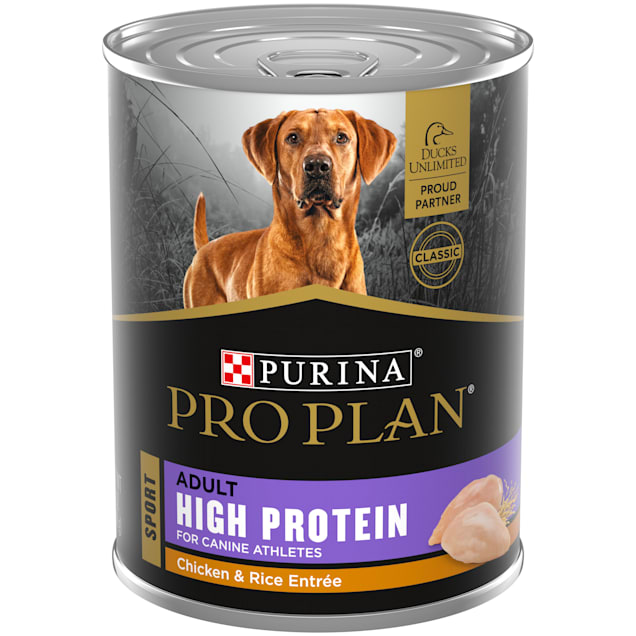 Purina Pro Plan Sport High Protein Chicken & Rice Entree Wet Dog Food, 13 oz., Count of 12 - Carousel image #1