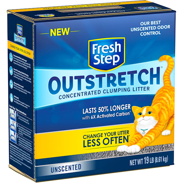 Fresh Step Unscented Outstretch Concentrated Cat Clumping Litter, 19 lbs. - Carousel image #1